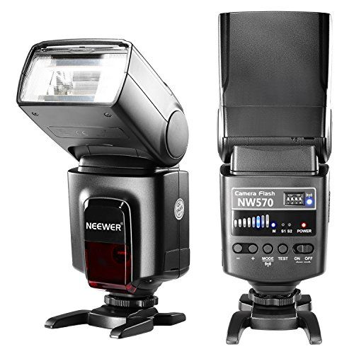 Neewer Flash Speedlite with 433MHz Wireless System and 16 Channel RT Transmitter for Canon Nikon Sony Panasonic Olympus Fujifilm Pentax and Other DSLR Cameras with Standard Hot Shoe (NW570) by Neewer