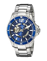 Stuhrling Original Men's 772.02 Aquadiver Regatta Makran Automatic Self Wind Blue Dial Stainless Steel Bracelet Watch