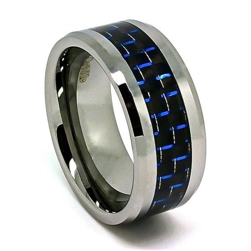 Wide Tungsten Ring Wedding Band - 9