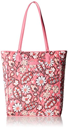 Vera Bradley North South Signature Tote Sling Bag, Blush Pink/Pink, One (Signature Sling Handbag)