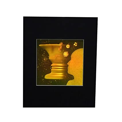 Amazon 3d Vase Face 2 Channel Hologram Picture Matted