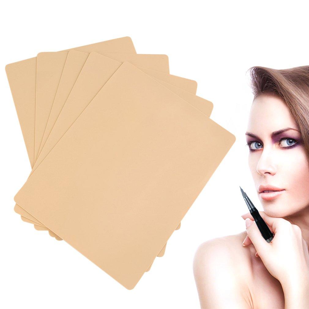 5pcs tatuaje práctica piel cosmética maquillaje permanente ceja ojo práctica piel FairytaleMM