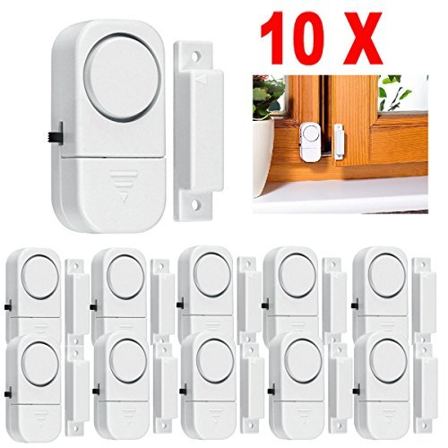 10x Wireless Home Window Door Burglar Security Alarm White System Magnetic Sensor Super Loud 90 Db Alarm Convenience In Installation Brand New