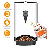 Smart Automatic Cat Feeder - SUKI&SAMI Pet Food Dispenser, with HD Camera, Voice Recording and Interaction, WI-FI Enabled APP control Up to 4 Meals a Day