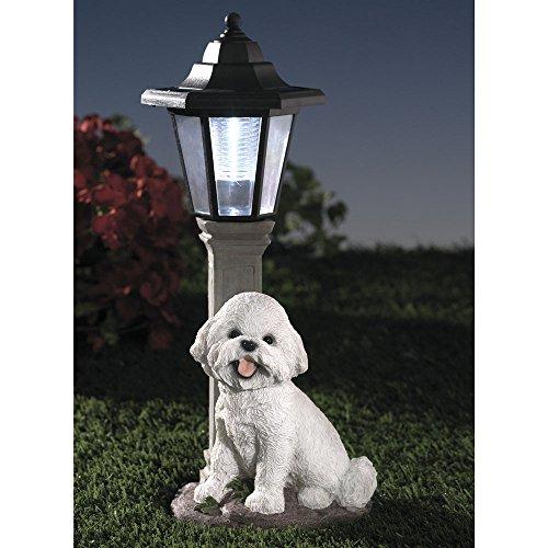 Patio Lights Amazon Ca: Bits And Pieces-Solar Bichon Lantern-Solar Powered Garden