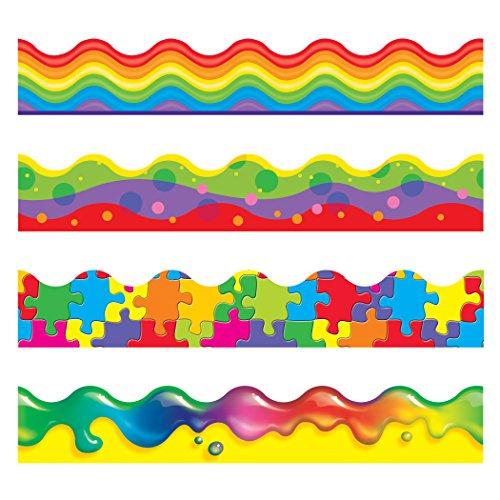 (TREND enterprises, Inc. T-92916 Color Blast Terrific Trimmers, Variety Pack, 156')