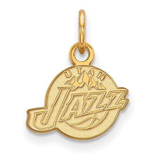 Roy Rose Jewelry 14K Yellow Gold NBA LogoArt Utah Jazz X-small Pendant / Charm by Roy Rose Jewelry