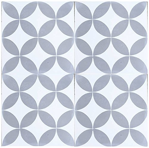 Rustico Tile and Stone RTS6 Circulos GW Cement Tile Pack of 13, 8