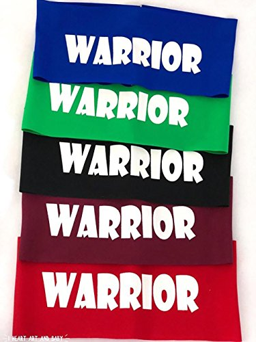 5 Pack of Warrior Headbands, Ninja Headbands for Kids, Party Favors, Red - Set of 5 by I Heart Art and Baby