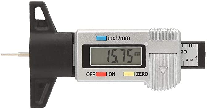 Profiltiefenmessgerät Typ Erkennung Messgerät 0 25 4 Mm Digital Reifenprofiltiefe Genaues Messwerkzeug Mit Großem Lcd Display Für Pkw Lkw Baumarkt