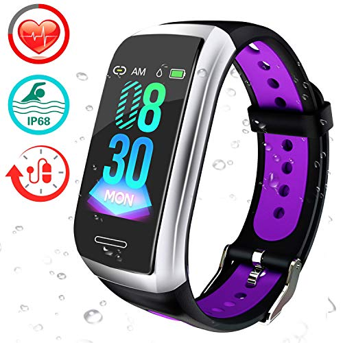 feifuns Fitness Tracker Watch Heart Rate Monitor-1.14 Color Screen IP68 Waterproof Activity Tracker,Sleep Monitor Pedometer Smart Wrist Band for Women Men Android iOS