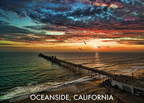 Aerial view of the Oceanside Pier - Postcards - 10 pack