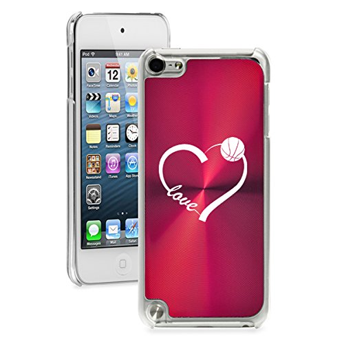 (For Apple iPod Touch 5th / 6th Generation Hard Back Case Cover Love Heart Basketball (Red))