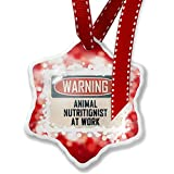 Christmas Ornament Warning Animal Nutritionist At Work Vintage Fun Job Sign, red - Neonblond