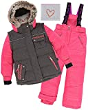 Deux par Deux Girls' 2-Piece Snowsuit Friendship Forever Raspberry, Sizes 4-14 - 8