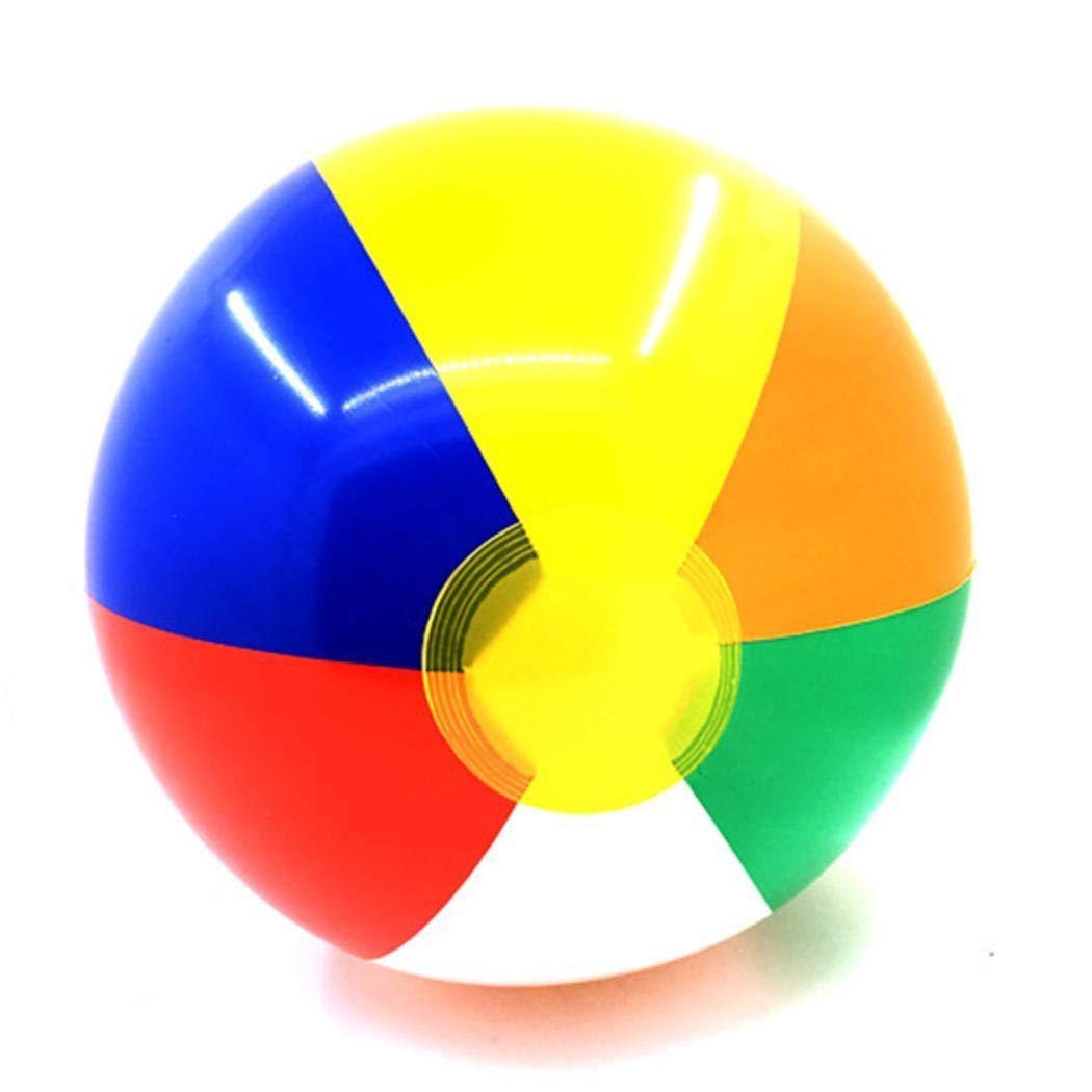 kigins Rainbow Beach Balls Colorful Gonfiabile del Pallone da Spiaggia per la Festa allaperto della Spiaggia di Estate Palle e palloni