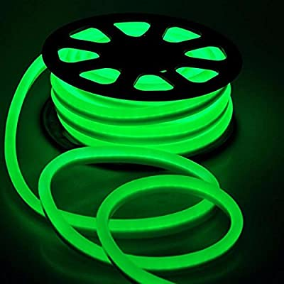 150FT Green LED Neon Rope Lighting Flex Tube Wedding Party Home Xmas Decor Indoor Outdoor Room Decor Lighting 110V
