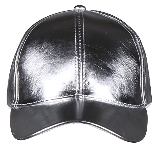 PZLE fashionable silvery leather baseball caps for young lady and women Silvery