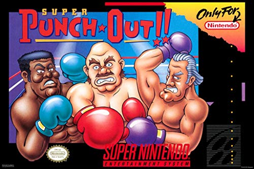 Pyramid America Laminated Super Punch Out Nintendo Box Art Sign Poster 12x18 inch