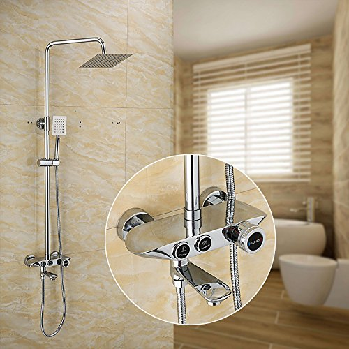 ZXYThe shower column copper third cold and hot water shower set shower shower set