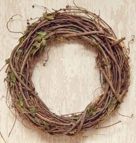 Cheap Grapevine Branches And Dried Leaves Wreath Country Primitive Florals Décor