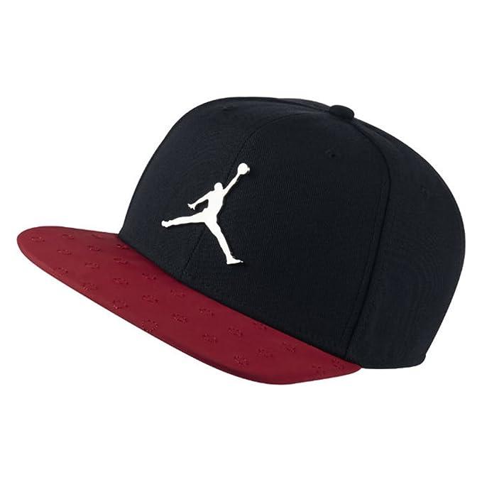 b5b6f13d71 Nike Jordan Retro 13?Snapback Cappello, Uomo, Black/Red, Adjustable ...