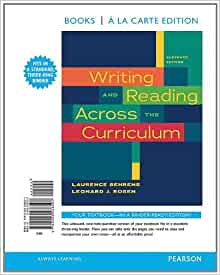 writing and reading across the curriculum 13th chart
