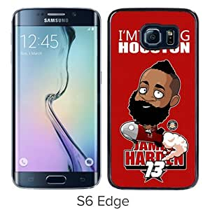 Unique Samsung Galaxy S6 Edge Skin Case ,Fashionable And Durable Designed Phone Case With Houston Rockets James Harden 1 Black Samsung Galaxy S6 Edge Screen Cover Case