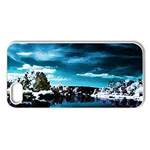 Winter - Case Cover for iPhone 5 and 5S (Winter Series, Watercolor style, White)