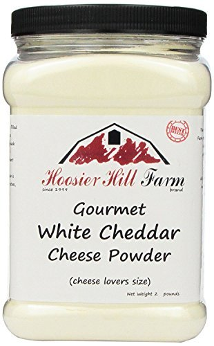Hoosier Hill Farm White Cheddar Cheese Powder, Cheese Lovers, Gluten Free 2 Pound Size