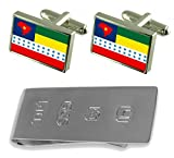 Salesopolis City Sao Paulo State Flag Cufflinks & James Bond Money Clip