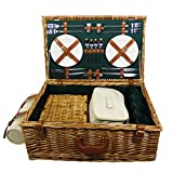 The Chelsea 4 Person Luxury Wicker Picnic Basket