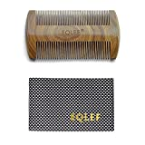 EQLEF Green sandalwood no static handmade comb,Pocket comb (beard)