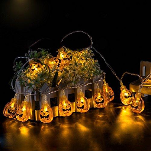 Light Bulb Chandelier,Ikevan Newest 1.2M 10LED Pumpkin String Lights For Halloween Party Decor Halloween String Light