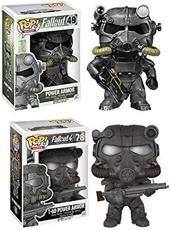 Funko POP! Fallout: Power Armor + T-60 Armor - Video Game Vinyl Figure Set NEW: Amazon.es: Juguetes y juegos