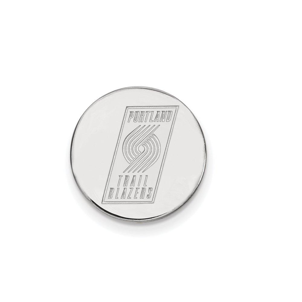 NBA Portland Trail Blazers Lapel Pin in 14K White Gold