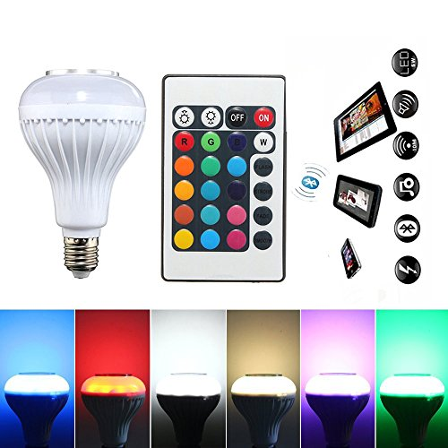 Wireless 12W Power E27 LED rgb Bluetooth Speaker Bulb Light Lamp - 3