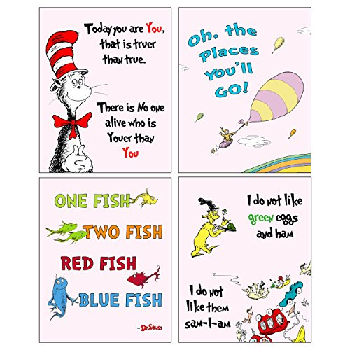 Dr Seuss Set of four ART Prints