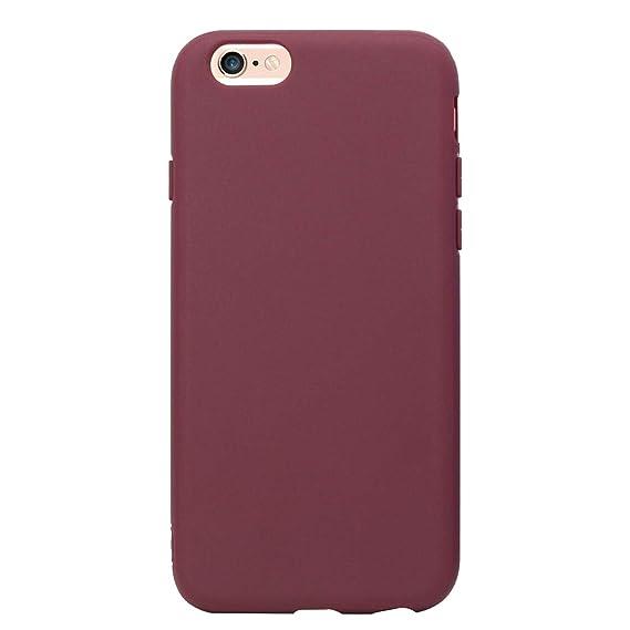 reputable site 71948 9cf16 MUNDULEA Compatible iPhone 6/iPhone 6s Case,Flexible TPU Full Matte Cover  Case Compatible iPhone 6/iPhone 6s (Burgundy)