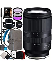 Tamron 17-70mm F/2.8 Di III-A VC RXD Lens Model B070 for Sony E-Mount APS-C Mirrorless Cameras Bundle with Deco Gear Photography Backpack Case + Filter Kit + 64GB Card + Monopod + Accessories