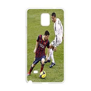 Samsung Galaxy Note 4 Cases Lionel Messi & C. Ronaldo On Field Protector For Girls, Samsung Galaxy Note4 Case Yearinspace, [White]