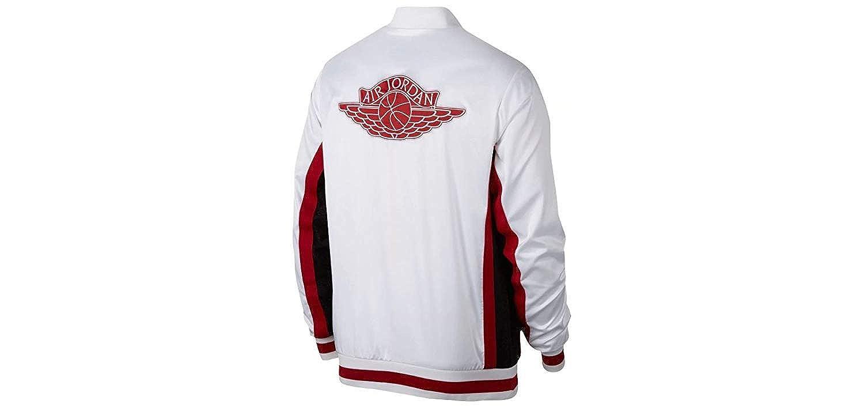 2f3e2d5b9b226 NIKE Men's Jordan Satin Jacket White/Red/Black AQ0938 100 (X-Large ...