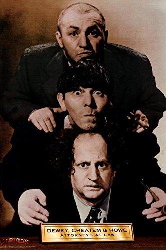 3 Stooges Dewey, Cheatem, and Howe Poster Print