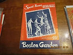 1958 4/9 Boston Celtics vs Hawks NBA Championship program and ticket gm 5
