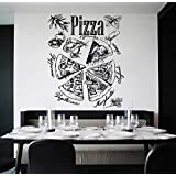 ik1073 Wall Decal Sticker inscription Pizza Italian restaurant pizzeria