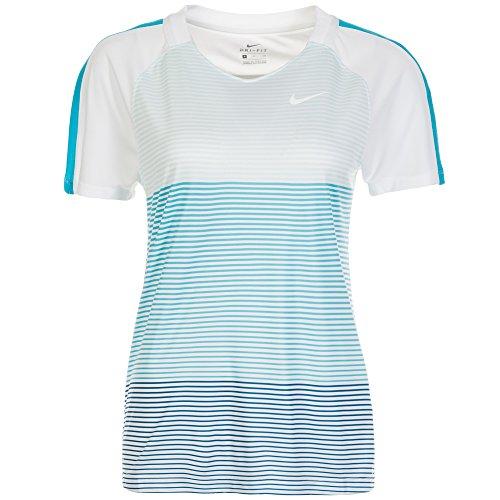 Nike Women's Nike Strike Short Sleeve Running/Training Soccer Top 839199-411 (Size: Medium) White/Blue by NIKE