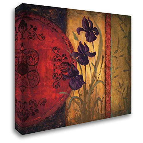 Iris Fusion II 53x53 Extra Large Gallery Wrapped Stretched Canvas Art by Wacaster, Linda