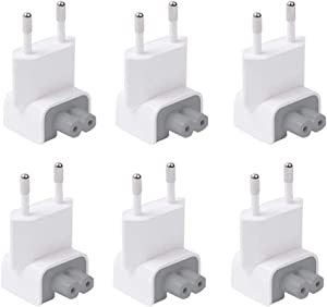 ElementDigital Mac AC Wall Adapter Plug Duckhead US Wall Charger AC Cord US Standard Duck Head for MacBook Mac iBook/iPhone/iPod AC Power Adapter Brick (EU 6 PCS)