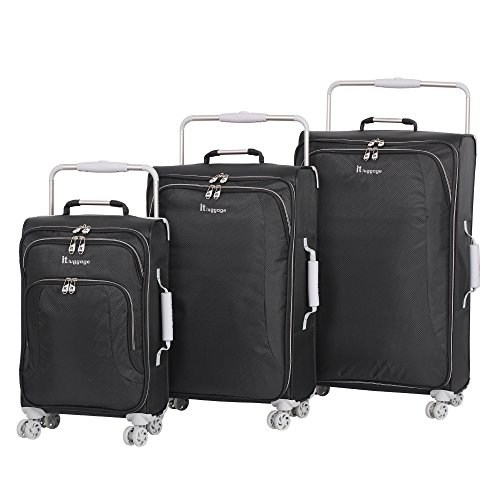 it luggage World's Lightest 8 Wheel 3 Piece Set, Raven by IT Luggage