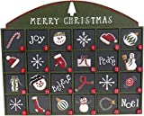 Green Wooden Advent Calendar with Doors from Primitives by Kathy